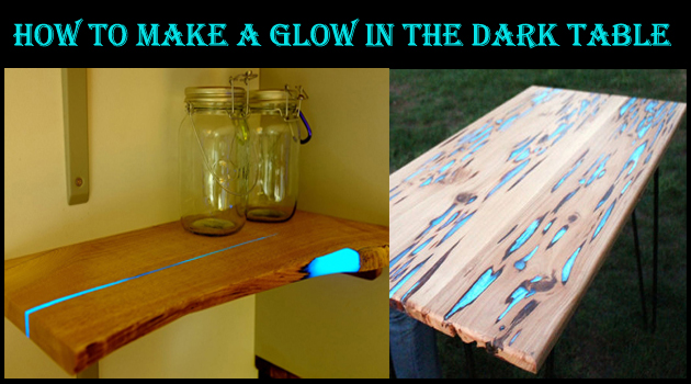 Astounding glow table photos best inspiration home for Glow in the dark table